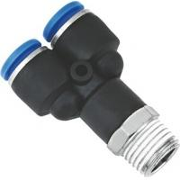 China Y Shaped Air NPT Threaded Fittings Connectors Metric Push To Connect One Touch wholesale