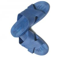 China Anti static ESD Slipper Cross Type SPU Material Color Blue Black White w/ESD Logo wholesale