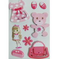 China Paper + PVC Puffy Cute Vintage Toy Stickers For Birthday Gift Eco Friendly wholesale