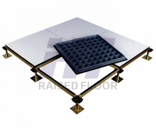 Quality Ceramic Finish Raised Access Floor Panels Steel High Load Capacity for sale