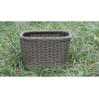 China Strong Plastic Rattan Storage Boxes , Brown Rattan Storage Case wholesale