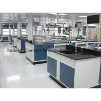 China General Size L3000*1500*850mm Steel Lab Bench Single / Double Drip Rack Type wholesale
