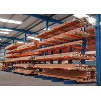 China Durable single side/double side structural cantilever rack for long steel pipes on sale
