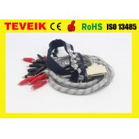 China DIN 1.5mm socket waterproof EEG Cable withi Crocodile Clip / Red Cover wholesale