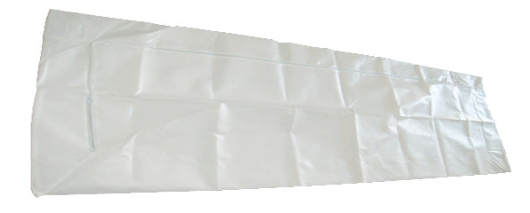 Quality Plastic Film Coated Mortuary Body Bags Biodegradable 120 Gsm Thickness for sale