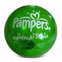 China Beach Ball, Made of PVC, TPU, PE and PP, Available in Green, Red and Yellow wholesale