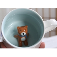 Buy cheap Single Layer White 3D Promotional Ceramic Coffee Mugs from wholesalers