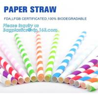 China biodegradable paper drinking straw, paper for paper straw, disposable paper straw,Bendy Flexible Paper Straws For Drinki wholesale