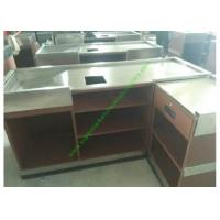 Buy cheap Coffee Bar And Supermarket Checkout Counter Table / Metal Cash Wrap Counter from wholesalers