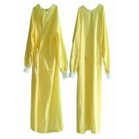 China EO Sterile Non Woven Disposable Patient Gowns Minimum Cross Infection Yellow wholesale