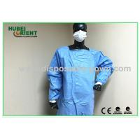 China Waterproof Unisex Standard Safety Disposable Surgical Gowns Blue Color on sale