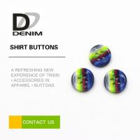 China Rainbow Fancy Dress Shirt Buttons Abundant Designs For Clothing Industry wholesale