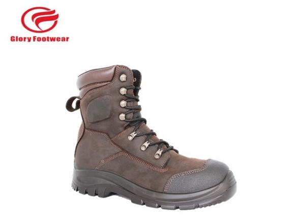 Quality Delta Force Police Security Leather Safety Shoes , 8 Inch Rubber Sole Shoes For Work for sale
