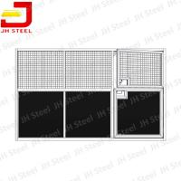China Galvanized Temporary Vinyl Sewn Horse Stall Panels For Horse Stables wholesale