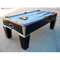 China Deluxe 7FT pool table solid wood billiard table chromed metal coner for club and family on sale