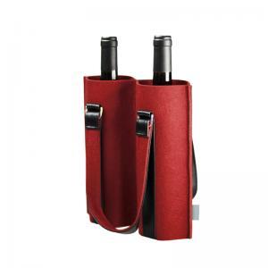 China 2 Pack Felt 170*360mm Wine Bottle Cooler Sleeve wholesale
