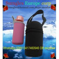 China neoprene water bottle holder with shoulder strap wholesale