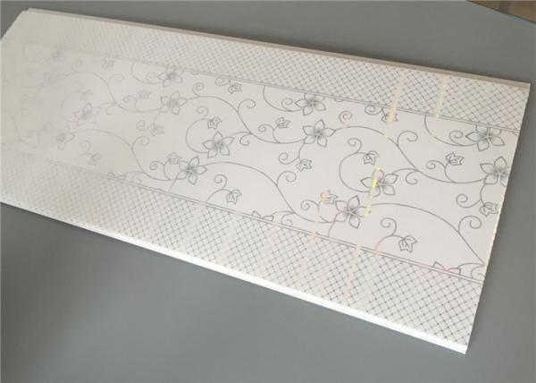Quality Flower Design Plastic Ceiling Sheets , Waterproof Ceiling Panels Pvc 30cm×7mm for sale