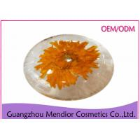 China Dry Flower Artisan Handcrafted Soaps , Exfoliation PH 6 Balance Natural Herbal Soap wholesale