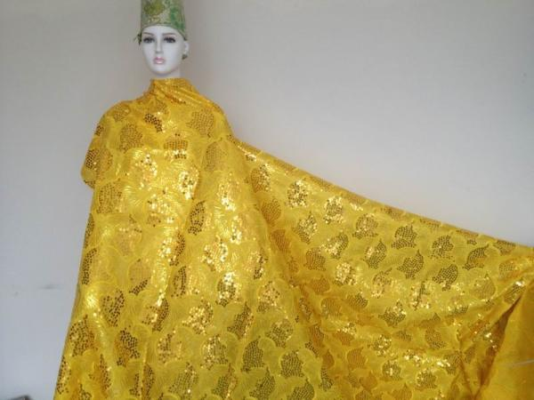 Yellow Lace Evening Gowns Evening Dress Organza Lace