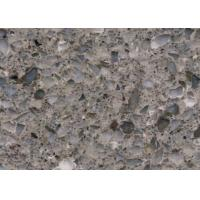 China Crystal Gray Sparkle Engineered Stone Kitchen Countertops , Artificial Quartz Countertops wholesale