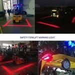 18 Watt Red / Blue Line Forklift Safety Light Safety Zone For Forklift