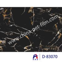 China High Definition Printing Pvc Decorative Foil Black Marble Moth Proofing wholesale