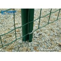 China Prevent Rusting Coated Wire Mesh , Welded Fence Panels Flat Even Surface With Flush Edges on sale
