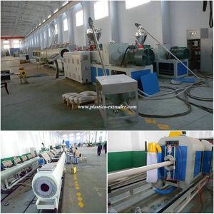 China Plastic Pipe Manufacturing Machine , Drain / Scupper PVC Pipe Extruder Machine wholesale