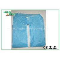 China Colored Zip medical lab coats for Workers , lightweight lab protective clothing wholesale