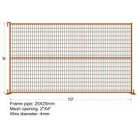 "Buy cheap ""VICORIA SECRET"" TEMPORARY FENCE H6'/1830mmxL10'/3050mm mesh Aperture 2""x4""/50x100mm from wholesalers"