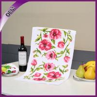 China Flower Sublimation Printing Kitchen Microfiber Towel,Dish Towel,Tea Towel on sale