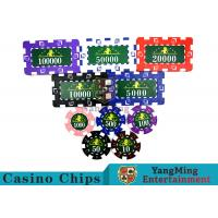 China Translucent Marco Style Casino Poker Chip Set With Crystal Clear Texture wholesale