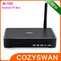 China USB 3.0 Android Smart TV Box media player metal shell real 4K miracast sink wholesale