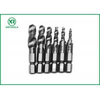 China HSS Combination Drill And Tap Set For Machine With Fully Ground Process wholesale