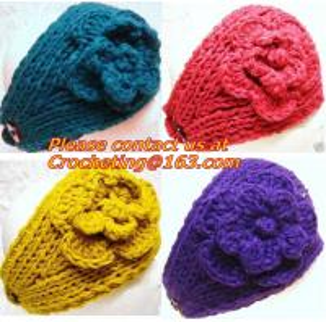 China Women knitted Warm Crochet Headbands Knitted Headbands Headwraps For Women Ladies accessor wholesale