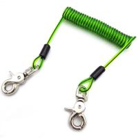 Buy cheap Stainless Steel Wire Cord Coil Cable Dichroic Tool Lanyard With Swivel Hook On Both Ends from wholesalers