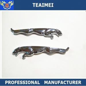 China Auto Chrome Metal Custom Car Emblems Badges Silver Car Emblem For Pairs wholesale