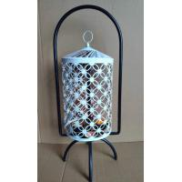 China White Hanging Lantern Stand Home Decor Self Rotation Table Lantern with 4 Tealight Candles wholesale