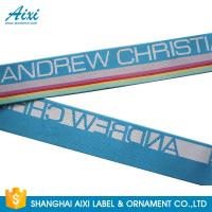 China Wide Nylon / Polyester / Cotton Underwear Elastic Band With Custom Logo wholesale
