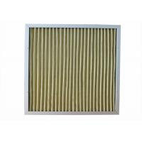 China 400 Degree Mini Pleated Air Filters Yellow Color High Dirty Capacity wholesale