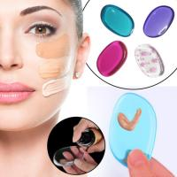 China Clear Silicone Makeup Pad Applicator Sponge , Soft Silicone Beauty Applicator on sale