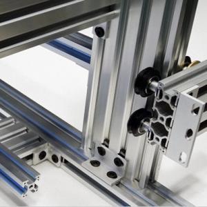 China Electrophoresis Anodized Aluminum Profiles Industry Aluminium Silver Black on sale