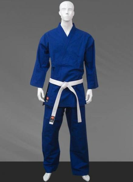 Quality Blue Sean Connery GI Karate Uniform , Custom Karate Gi for Men for sale