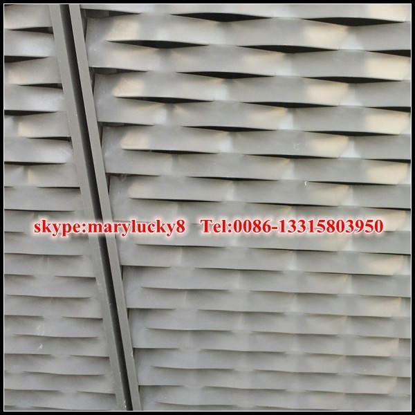 Quality esthetic aluminium expanded mesh wall claddings for sale