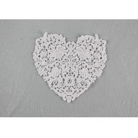China Guipure French Venice Lace Collar Cotton Lace Heart Applique For Wedding Dresses wholesale