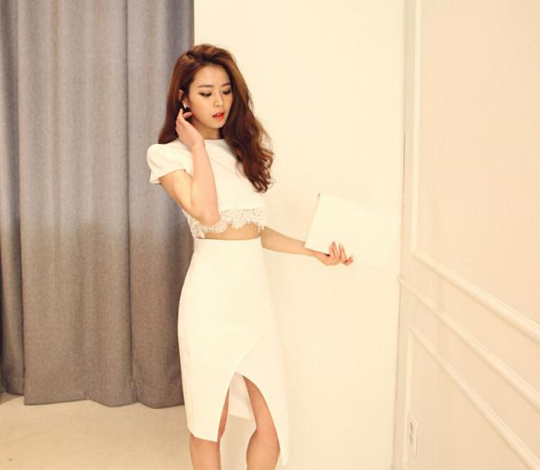 Quality Round Neck Womens Suit Dress for sale