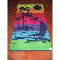 China Cotton Jacquard Beach Towels Pool Brand With Stripe on sale
