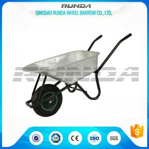 China 5CBF Heavy Duty Wheelbarrow Galvanized Durable Metal Tray Load Capacity 150kg wholesale