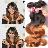 China Ombre Human Hair Extensions Brazilian Virgin Hair Body Wave 1b / 30 wholesale